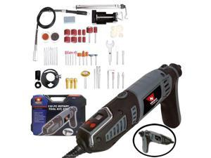 Neiko Rotary Grinder Tool Kit with Digital Display, Pistol Grip with 129 Rotary Accessories