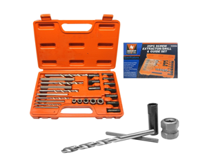 Neiko Screw Extractor Drill and Guide Set, 25-Piece