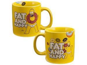 Simpsons Homer Simpson Fat and Happy Ceramic Mug