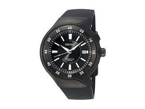 Seiko Black Ion Plated Kinetic Black Dial Men's Watch #SKA453