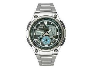 Casio Men's AQ-190WD-1AV Analog-Digital Stainless Steel Band Watch w/ Back Light