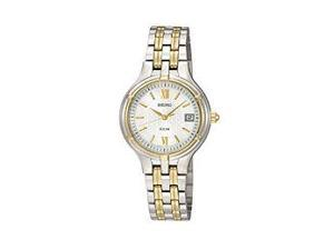 Seiko Solar Dress Bracelet White Dial Women's watch #SUT020