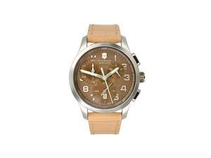 Victorinox Alliance Chronograph Brown Dial Stainless Steel Ladies Watch 241320