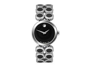 Movado Ono Moda Ceramic Inserts Black Museum Dial Women's watch #0606094