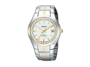 Pulsar Bracelet Collection Date Window Silver Dial Men's watch #PXH915