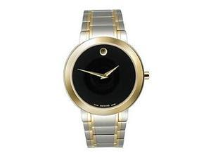 Movado Stiri Two-Tone Bracelet Black Museum Dial Men's Watch #0606193