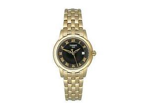 Tissot Ballade III Gold PVD Black Dial Women's Watch #T031.210.33.053.00