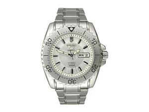 Seiko 5 Automatic Steel Bracelet Silver Dial Men's watch #SNZG35