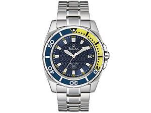 Bulova Marine Star Blue Dial Men's Watch #96B126