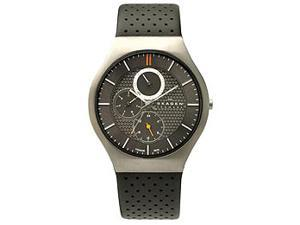 Skagen 806XLTLM Men's Titanium Multifunction Gunmetal Dial Watch