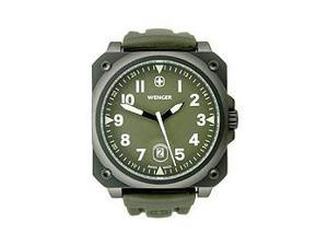 Wenger Aerograph Cockpit PVD-coated NATO Green Dial Men's watch #72422