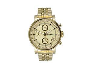 Fossil Women's Chronograph Champagne Dial watch #ES2197
