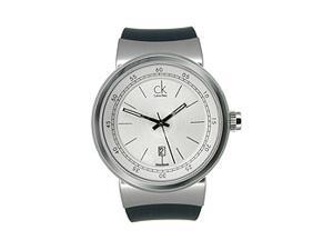 Calvin Klein Celerity Rubber Strap Silver Dial Men's watch #K7551120