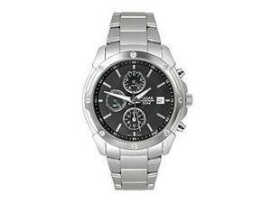 Pulsar Chronograph Steel Bracelet Dark Brown Dial Men's watch #PF8335