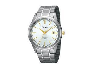 Pulsar Bracelet Collection Titanium Silver Dial Men's watch #PXH919