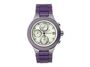 DKNY Chronograph Crystal Accents Mother-of-pearl Dial Women's watch #NY8066