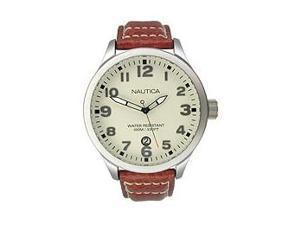 Men's Nautica Brown Leather Strap Watch N09560G