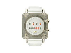 01The One Unisex Razor Block White Strap watch #RB904R1