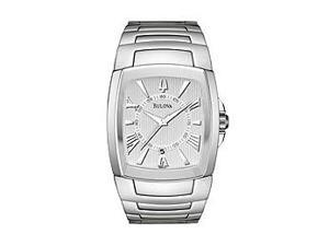 Bulova Stainless Steel Bracelet White Dial Men's watch #96B124