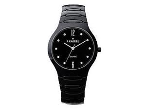 Skagen Bracelet Collection Black Ceramic Black Dial Women's watch #817SBXBC