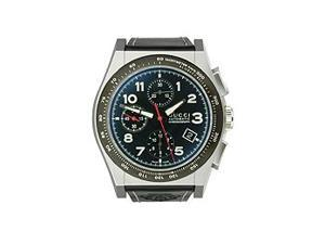 Gucci Pantheon Automatic Chronograph Black Dial Men's Watch #YA115232