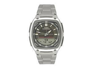 Casio AW81D-1AV Men's Analog & Digital Stainless Steel Watch w/ 10 Year Battery