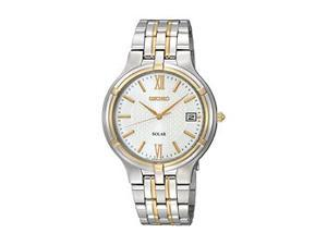 Seiko Solar Date Window White Dial Men's watch #SNE066