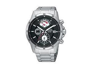 Pulsar Chronograph Steel Bracelet Black Dial Men's watch #PS6019