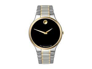 Movado Museum Collection Two-tone Bracelet Black Dial Men's watch #606388