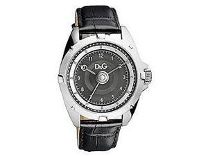D&G Dolce & Gabbana Chalet Leather Strap Charcoal Dial Men's watch #DW0606