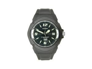 Casio Men's MW600F-1AV Black Resin Quartz Watch with Black Dial