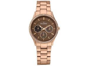 Skagen Rose-gold Steel Women's watch #347LRXR1