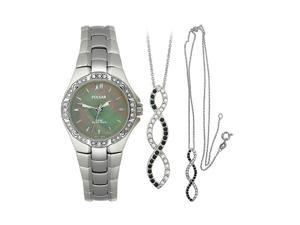 Pulsar Swarovski® Pendant and Women's watch Box set #PTC535