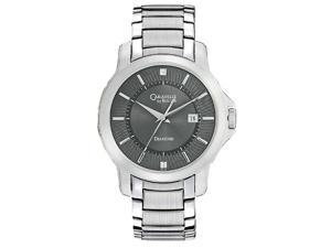 Caravelle Diamond Steel Bracelet Grey Dial Men's watch #43D102