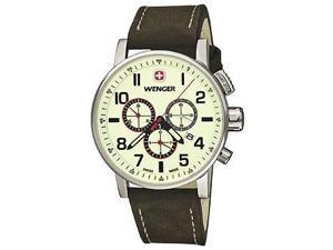 Wenger Commando Chrono Leather - Brown Men's watch #01.1243.105