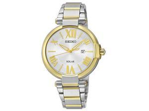 Seiko Two-Tone Collection Silver-Tone Dial Women's Watch #SUT174