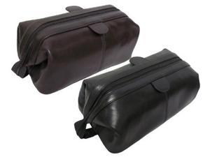 Amerileather Zip Top Leather Toiletry Bag (#24-05)