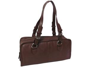Classy Belt Stitched Leather Satchel (#1828-2)