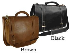 Traditional Double Slip-in Leather Executive Briefcase (#2760-02)