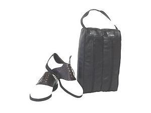 Black Leather Golf Shoe Bag (#725-0)