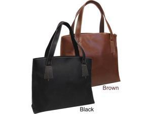 Elegant Boxy Leather Tote (#1819-02)