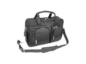 Black Leather Business Briefcase (#49-0)