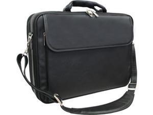 Black Leather Notebook Computer Bag (#85-0)