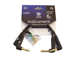 "Planet Waves 6"" Custom Series Patch Cables, 2 Pack, 1/4"" Angled"