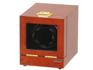 Single Watch Winder Mahogany Wood w/LCD Display