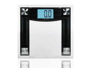 "HealthPro EBW-400 Electronic Bathroom Scale with 4.3"" Blue Backlit LCD & ""Step-On"" Technology"