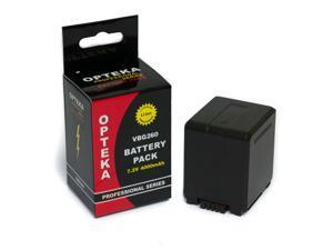 Opteka VW-VBG260 4000mAh Ultra High Capacity Li-ion Battery Pack for Select Panasonic Camcorders (Fully Decoded)
