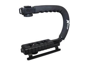 Opteka X-GRIP Professional Camera / Camcorder Action Stabilizing Handle with Accessory Shoe for Flash, Mic, or Video Light