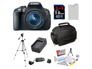 Canon EOS Rebel T5i 18.0 MP CMOS Digital SLR DSLR Camera with EF-S 18-55mm f/3.5-5.6 IS STM Lens & 16GB Starter Accessory ...
