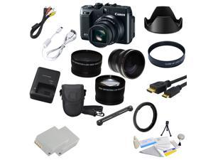 Canon PowerShot G1 X (G1X) 14.3 MP CMOS Digital Camera with 19 Piece Lens Bundle